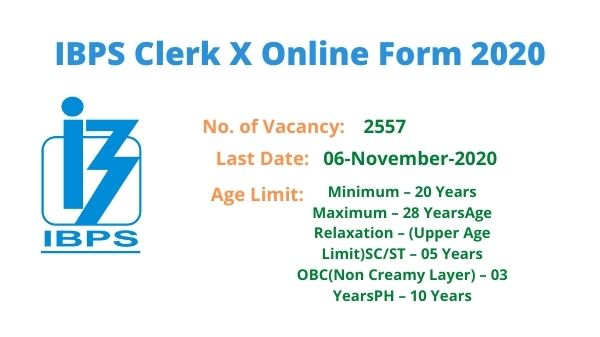 IBPS Clerk X Online Form 2020 Re Open 2557 Post - NewsWebEra